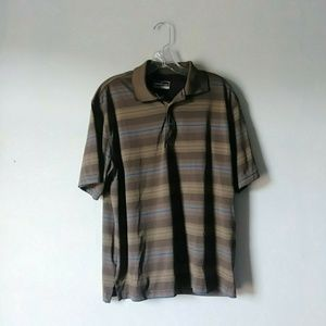 Grand slam Performance Large Brown Stripe Golf top